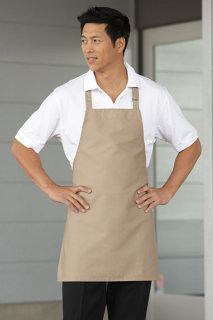 Uncommon Theards 3010 Adjustable Bib Apron - No Pockets