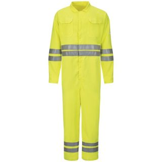 Bulwark® CMD8 Hi-Vis Deluxe Coverall with Reflective Trim - CoolTouch  2 - 7 oz.