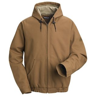 Bulwark® JLH4 Brown Duck Hooded Jacket - EXCEL FR  ComforTouch