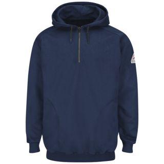 2 SEH8 Pullover Hooded Fleece Sweatshirt with 1/4 Zip - Cotton/Spandex Blend