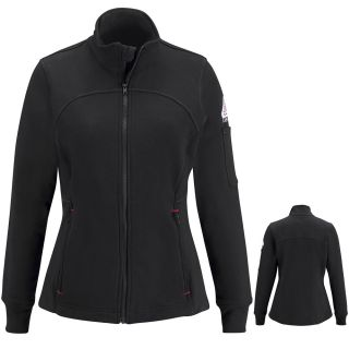 Bulwark® SEZ3 Female Zip Front Fleece Jacket-Cotton/Spandex Blend