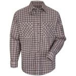 1.2 SLD6 Plaid Uniform Shirt - EXCEL FR  ComforTouch  - 6.5 oz.