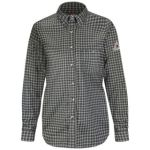SLG9 Plaid Dress Shirt - EXCEL FR  ComforTouch  - 6.5 oz.