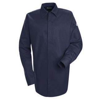 1.534 SLS2 Concealed-Gripper Pocketless Shirt - EXCEL FR  ComforTouch  - 7 oz.