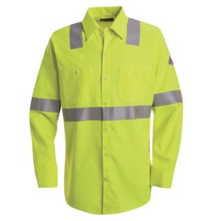 1.589 SMW4 Hi-Visibility Flame-Resistant Work Shirt - CoolTouch  2 - 7 oz.