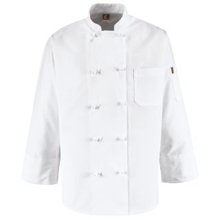 1.163 0421 Ten Knot Button Chef Coat