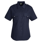 Horace Small HS1266 Women's New Dimension® Stretch Poplin?Short Sleeve Shirt?Dark Navy