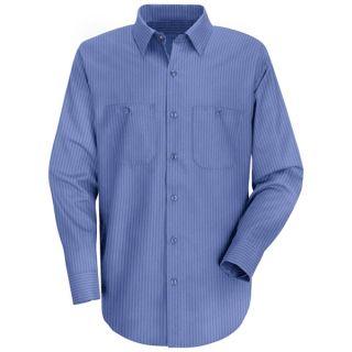0.779 SB12 Mens Industrial Stripe Work Shirt