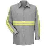 Red Kap SC30 SC30 Enhanced Visibility Cotton Work Shirt - Long Sleeve