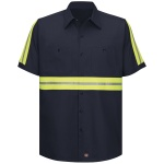 Red Kap SC40 SC40 Enhanced Visibility Cotton Work Shirt - Short Sleeve