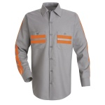 Red Kap SP14 Enhanced Visibility Shirt - Long Sleeve