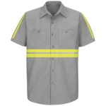 Red Kap SP24 Enhanced Visibility Industrial Work Shirt - Short Sleeve