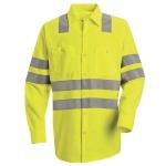 "Red Kap® SS14_Strip Hi-Visibility Work Shirt - Class 3 Level 2 X"" Striping Configuration"""