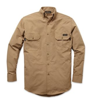 Workrite 210GG53 5.3 oz. GlenGuard Button-Down Dress Shirt