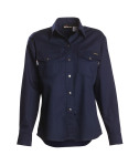 Workrite 229ID70 7 oz Indura Long Sleeve Women's Western-Style Shirt
