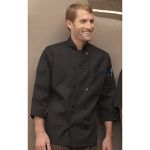 Wolfmark Neckwear CC-0410 Classic 3/4 Sleeve Chef Coat with 10 Pearl Buttons