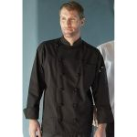 Wolfmark Neckwear CC-0425C 100% Cotton Executive Chef Coat with 12 Knot Buttons