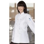 Wolfmark Neckwear CC-0475C Classic Napa Women's Chef Coat with 10 Plastic Buttons