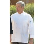 Wolfmark Neckwear CC-0481 Barbados Chef Coat with 12 Cloth-Covered Buttons