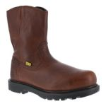"""Warson Brands IA0195 Mens Composite Toe 10"""" Wellington Flex-Met® Internal Met Guard Work Boot with Side Zipper"""