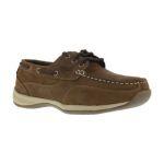 Warson Brands RK676 RK676 Womens Steel Toe 3 Eye Tie Boat Shoe