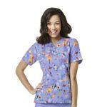 Wink Scrubs 6017 Women's Printed V-Neck Top