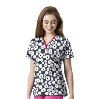 Wink Scrubs 6027 Women's Printed Mock Wrap Top