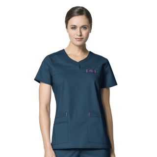 Wink Scrubs 6208 Patience Curved Notch Neck Top