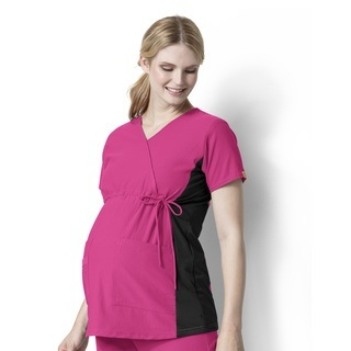 Wink Scrubs 6445 Maternity Mock WrapTop