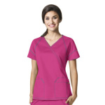Wink Scrubs 6702 Women's Fashion Crossover Top
