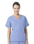 Wink Scrubs C10001 Unisex V-Neck Chest Pocket Top