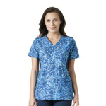 Wink Scrubs C12314 Print Made to Move Mock Wrap