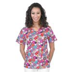 Wink Scrubs M3017 Printed V-Neck Top