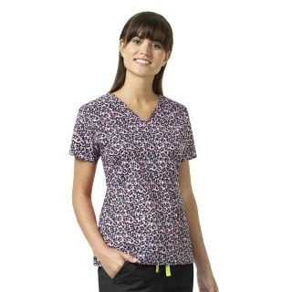 Wink Scrubs V6107 MAYA V-Neck Print Top