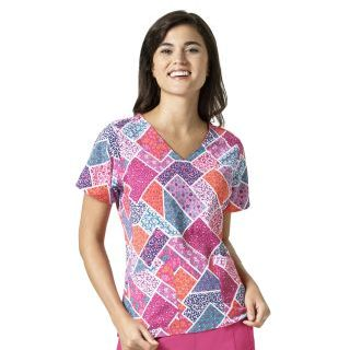 Wink Scrubs V6117 NETTIE V-Neck Print Top