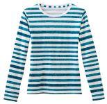White Swan 14370 Fundamentals Ladies Striped Layering Tee