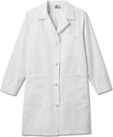 """White Swan 763 Meta Ladies 38"""" Cotton Knot Button iPad Labcoat"""