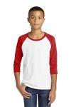 SanMar Gildan 5700B, Gildan ® Heavy Cotton  Youth 3/4-Sleeve Raglan T-Shirt.