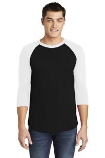SanMar American Apparel BB453W, American Apparel ® Poly-Cotton 3/4-Sleeve Raglan T-Shirt.