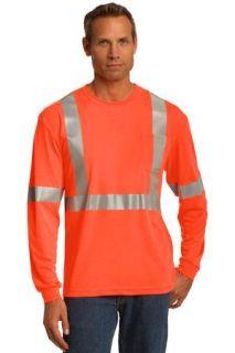 SanMar CornerStone CS401LS, CornerStone® ANSI 107 Class 2 Long Sleeve Safety T-Shirt.