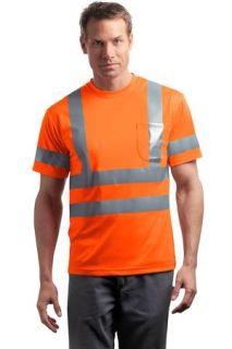 SanMar CornerStone CS408, CornerStone® - ANSI 107 Class 3 Short Sleeve Snag-Resistant Reflective T-Shirt.