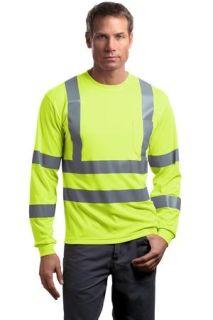 SanMar CornerStone CS409, CornerStone® - ANSI 107 Class 3 Long Sleeve Snag-Resistant Reflective T-Shirt.