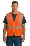 SanMar CornerStone CSV101, CornerStone ® ANSI 107 Class 2 Economy Mesh Zippered Vest.