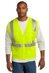 SanMar CornerStone CSV102, CornerStone ® ANSI 107 Class 2 Mesh Zippered Vest.