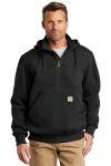 SanMar Carhartt CT100617, Carhartt ® Rain Defender ® Paxton Heavyweight Hooded Zip Mock Sweatshirt.