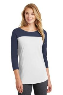 SanMar District DT2700, District® Womens Rally 3/4-Sleeve Tee.