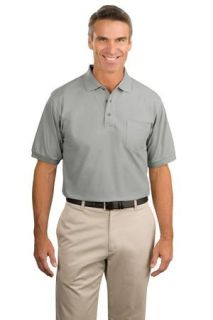 SanMar Port Authority K500P, Port Authority® Silk Touch Polo with Pocket.