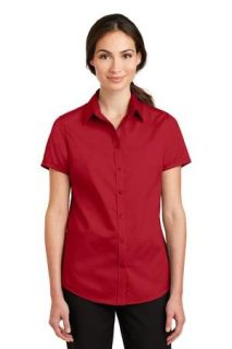 SanMar Port Authority L664, Port Authority® Ladies Short Sleeve SuperPro Twill Shirt.