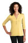 SanMar Port Authority LK750, Port Authority ®  Ladies UV Choice Pique Henley