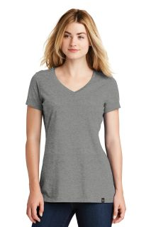 SanMar New Era LNEA101, New Era ® Ladies Heritage Blend V-Neck Tee.